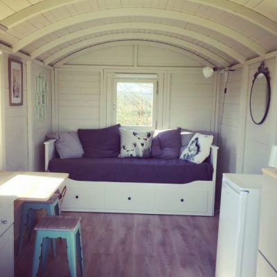 Glamping Shepherd's Hut for 2 people