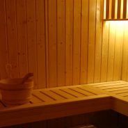 Wellness-room with sauna
